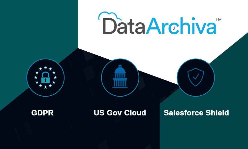 DataArchiva is now compatible with US Government Cloud, GDPR, and Salesforce Shield
