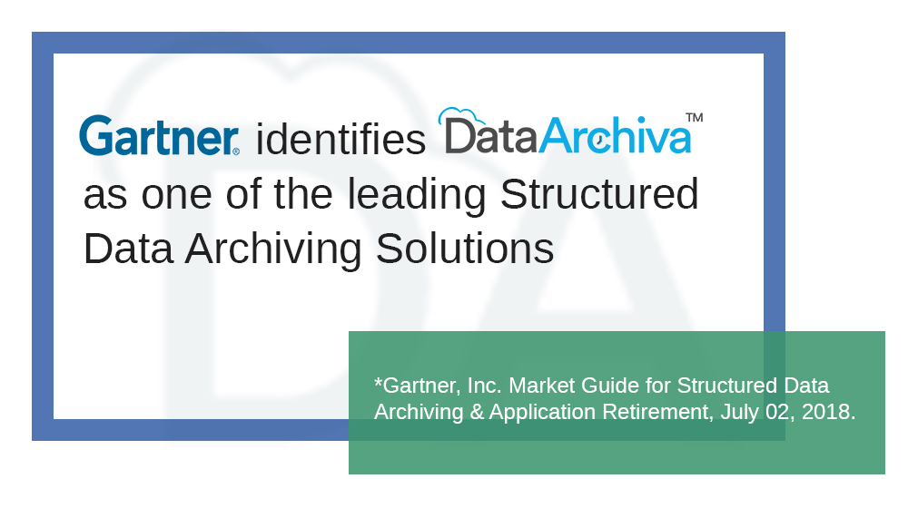 DataArchiva Listed in Gartner's Market Guide for Structured Data Archiving