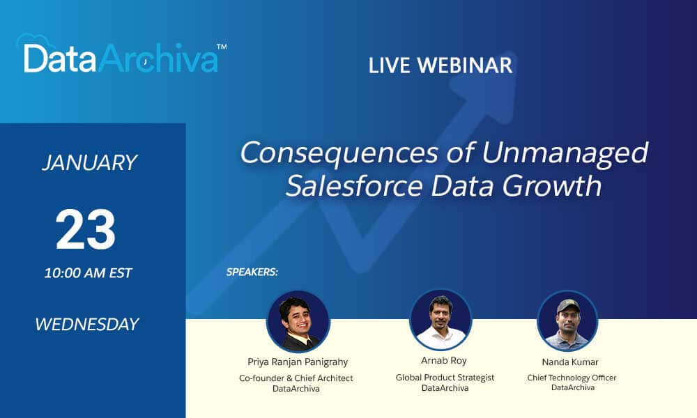 webinar consequences of unmanaged salesforce data growth